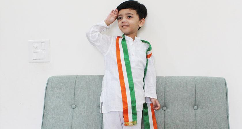 Viraaj celebrating Independence Day